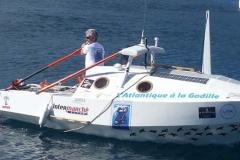Hervé sur son bateau
